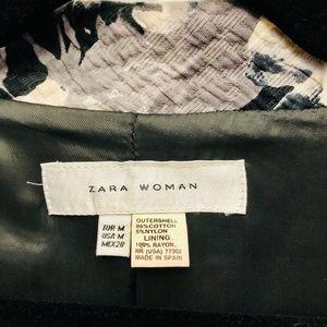 Zara Jackets & Coats - Zara Vintage Black and White Flowers Coat